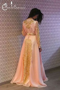 Awesome collection of Moroccan caftan abaya dresses ideas for function (14)