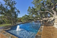 Concrete Geometric Pool - Designer Jason Olcott, San Antonio, Anthony and Sylvan Pools