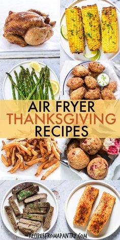 These Air Fryer Holiday Recipes are delicious and delectable dishes that are also quick and easy to make! From appetizers, sides and main dishes, to desserts and even breakfasts, the air fryer has got your holiday menu covered. Collection includes recipes suitable for a wide range of dietary considerations. Click through to get all these awesome Air Fryer Thanksgiving Recipes!! #airfryer #airfryerrecipes #airfryerholidayrecipes #airfryerthanksgivingrecipes #airfryerchristmasrecipes