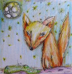 Pomaranczowy Kot: szkicownik 28/01/2016 Lisek