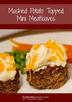 Mashed Potato Topped Mini Meatloaves #Recipe