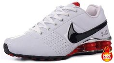 Mens Nike Shox Deliver White Black Red