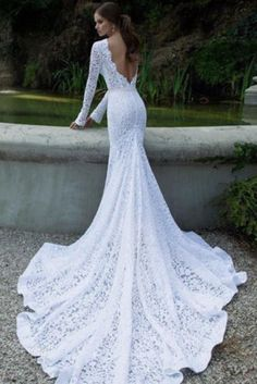 Beautiful elegant wedding dress