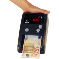 DETECTOR DE BILLETES FALSOS - REF: DP 2158: Es un práctico detector de billetes de euro que incorpora la más avanzada tecnología y garantiza una gran fiabilidad en la detección de billetes falsos.