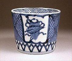 Ko Imari Sometsuke Soba Choko Porcelain Cup