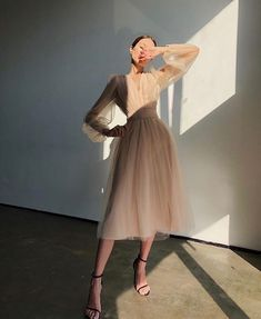 Mode Outfits, Dress Outfits, Fashion Dresses, Dress Up, Silk Dress, Winter Fashion Outfits, Tulle Dress, Summer Outfits, Elegant Outfit