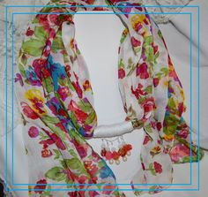 Scarf with Beads A Rainbo Around your Neck by pdqt12 on Etsy, $20.00