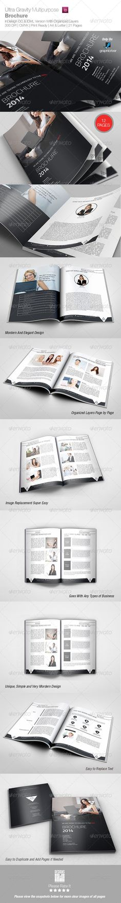 DetailsInDesign File with Properly organized layers 12 Pages Professional fully Editable InDesign File (.indd   .IDML ) 1 Front Co