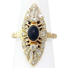 Antique 14k Gold Sapphire Diamond Ring Available on our July 21st Auction @ hamptonauction.com