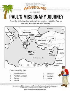 adults lessons on pauls missionary trips