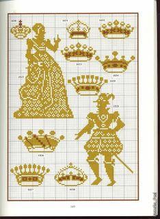 Королевы и короны - схемы вышивки