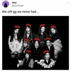 If BLACKVELVET (BLACKPINK and RED VELVET) was an ot9 group,I will literaly be happy
