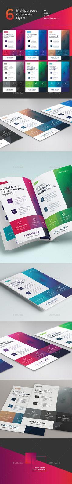Corporate Flyer - 6 Multipurpose Business Templates PSD #design Download: http://graphicriver.net/item/corporate-flyer-6-multipurpose-business-templates-vol-13/13444969?ref=ksioks