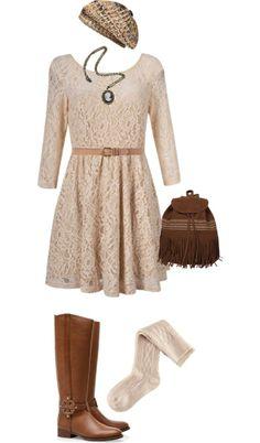 """Fall Dress"" by rainwashesaway on Polyvore"