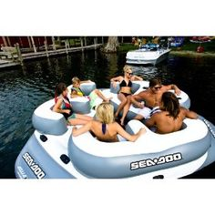 sea-doo 6 person inflatable aqua lounge...these are so great out at the lake
