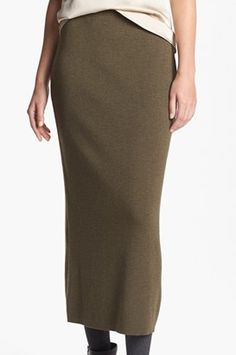 This wool skirt is cut to a polished mid-calf length; just enough to keep you warm  (via @Nordstrom www.nordstrom.com)