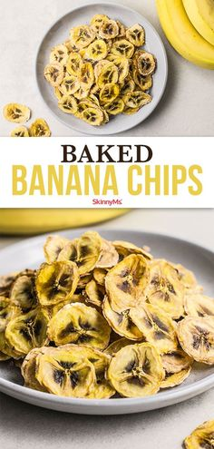 These baked banana chips are the perfect go-to healthy snack! Each serving has less than 100 calories and they're super easy to make! Easy Snacks, Healthy Snacks, Healthy Recipes, Toddler Snacks, Bariatric Recipes, Simple Recipes, Light Recipes, Healthy Habits, Healthy Choices