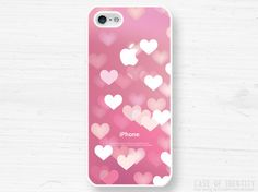 iPhone 5 4 Heart Case - Love Romatic Valentines Bokeh Blur - Samsung Galaxy s3, s2, ipod touch - Pink -NC. £9.99, via Etsy.