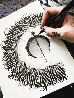 Custom Hand Lettering And Calligraphy Art by NoekoDesigns Tattoo Lettering Styles, Tattoo Fonts, Lettering Design, Hand Lettering, Dark Art Tattoo, Body Art Tattoos, Sleeve Tattoos, Calligraphy Fonts Alphabet, Calligraphy Tattoo