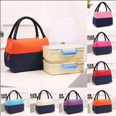 KCASA KC-LG035 Large Capacity Woman Lady Lunch Tote Bag Travel Food  Organizer Storage Bag d1b085768b872