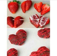 Heart Shaped Chocolate Strawberries - TGIF - This Grandma is Fun Valentines Day Treats, Holiday Treats, Holiday Recipes, Valentine Ideas, Valentine Hearts, Holiday Gifts, Heart Shaped Chocolate, Chocolate Hearts, White Chocolate