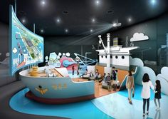 Indoor Playroom, Kids Cafe, Exhibition Booth Design, Science Museum, Indoor Playground, Expositions, Design Museum, Kid Spaces, Kids And Parenting