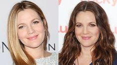 Drew Barrymore blonde and brunette hair colors 2015