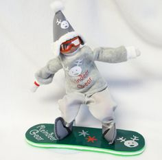 Christmas Elf goes Snowboarding by FlavorsofmyRainbow on Etsy https://www.etsy.com/listing/245839817/christmas-elf-goes-snowboarding