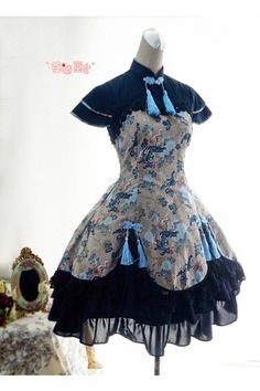 Cheongsam Lolita New Design Dress 4 Colors $86.99-Cotton Lolita Dresses - My Lolita Dress