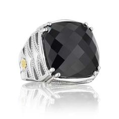 #Tacori 18K925 #SterlingSilver, 18K Yellow #Gold & #BlackOnyx #Ring