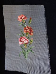 Needlepoint Patterns, Carnations, Home Decor Items, Gifts For Him, Needlework, Unisex, Floral, Design, Embroidery Patterns