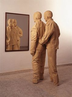 Art from Spain - Juan Muñoz (1953 - 2001), was a Spanish sculptor, working primarily in resin and bronze. His first exhibition was in 1984 in a gallery of Madrid. Since then, his works have been frequently exhibited in Europe and other parts of the world. Muñoz's sculptures often invite the spectator to relate to them, making the viewer feel as if they have discreetly become a part of the work of art; he died shortly after, in 2001.