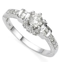 14KT WHITE GOLD... USE ONLY 0.20-0.25CT CENTER. ADVERTISE WHOLE RING AS 1/2CT. ALSO MAKE BLUE DIAMOND CENTER.