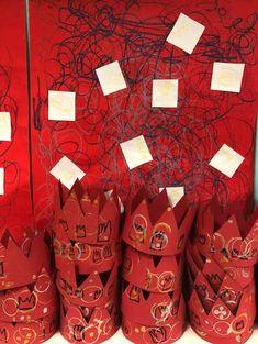 Jean-Michel Basquiat et les couronnes chez Karine K2 - école petite section Jean Michel Basquiat, Artist Art, Mardi Gras, Valentines Day, Gifts, Crowns, King, Happy New Year, King Cakes