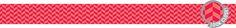 Painted Palette Poppy Red Herringbone Border