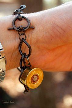 20 GA Shotgun shell Charm Bracelet. $12.00, via Etsy.