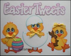 Premade Easter TWEETS Paper Piecing Set for Scrapbook Pages by Babs | eBay