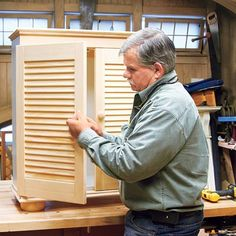 How To Build A Cabinet From A Bookshelf And Shutters