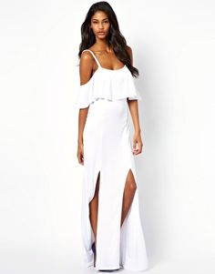 ASOS Maxi Dress With Ruffle Detail