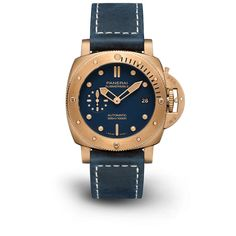 Novedades Panerai 2021 - Panerai Submersible Bronzo Blu Abisso PAM01074 Frontal Panerai Submersible, Leather, Accessories, Diving Watch, Jewelry Accessories