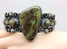 NAVAJO~CHIMNEY BUTTE~ BIG BOLD ~GASPEITE~ STERLING ~SIGNED ~BRACELET  | eBay