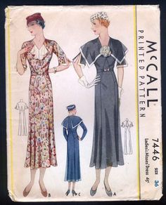 McCall 7446 | ca. 1933 Ladies' & Misses' Dress