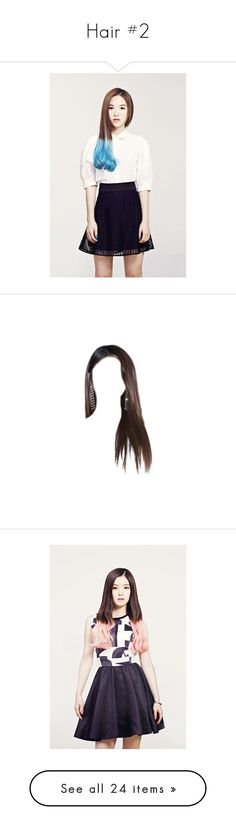 """Hair #2"" by pretty-evil-girls ❤ liked on Polyvore featuring hair, wigs, doll hair, dolls, cabelo, doll parts and brunette"