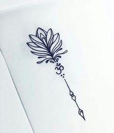 Tiny Tattoo Idea - I love this tattoo - 2017 trend Tiny Tattoo Idea - Ic . - Tiny Tattoo Idea – I love this tattoo – 2017 trend Tiny Tattoo Idea – I love this tattoo – - Unalome Tattoo, Hamsa Tattoo, Tatouage Hamsa, Dotwork Tattoo Mandala, Mandala Tattoo Design, Ohm Tattoo, Sanskrit Tattoo, Tiny Tattoos For Girls, Little Tattoos