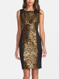 Can't wait to sparkle in this sequin sheath dress at the next dinner party.