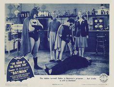 1943 Batman Serial Lobby Card