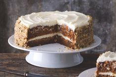 Mrkvový dort | Apetitonline.cz Vanilla Cake, Tiramisu, Great Recipes, Food Porn, Bread, Ethnic Recipes, Diet, Lemon, Cake Ideas