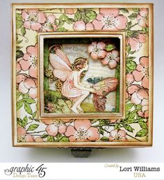 Once Upon a Springtime altered mixed media box by Lori Williams using the brand new Deluxe Collector's Edition! Look for this collection in stores in mid-February #graphic45 #sneakpeeks