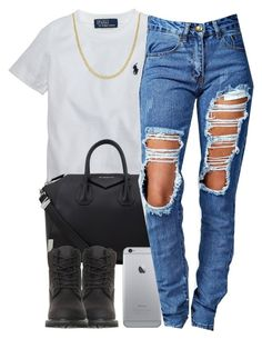 """""""7/22/15"""" by queenbrittani ❤ liked on Polyvore featuring Ralph Lauren, Givenchy, Timberland, Boohoo and Reeds Jewelers"""
