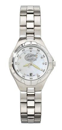 LogoArt South Carolina Gamecocks C Gamecock Women's Pro II Watch with Mother of Pearl Dial and Stainless Steel Bracelet Stainless Steel Watch, Stainless Steel Bracelet, Miss Michigan, Ladies Bracelet Watch, Louisville Cardinals, Kentucky Wildcats, South Carolina Gamecocks, North Carolina, Auburn Tigers